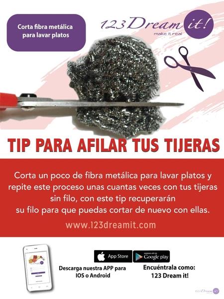 Tip para afilar tus tijeras