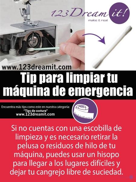 Tip para limpiar tu máquina de emergencia