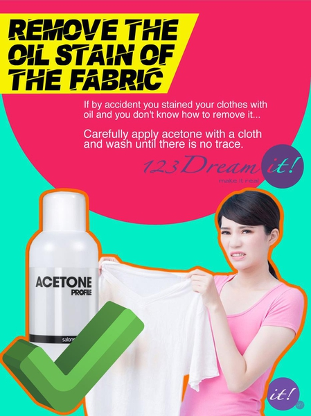 REMOVE THE OIL STAIN OF THE FABRIC