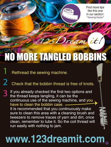 NO MORE TANGLED BOBBINS