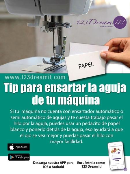 Tip para ensartar la aguja de tu máquina de coser