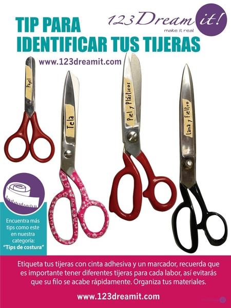 Tip para identificar tus tijeras