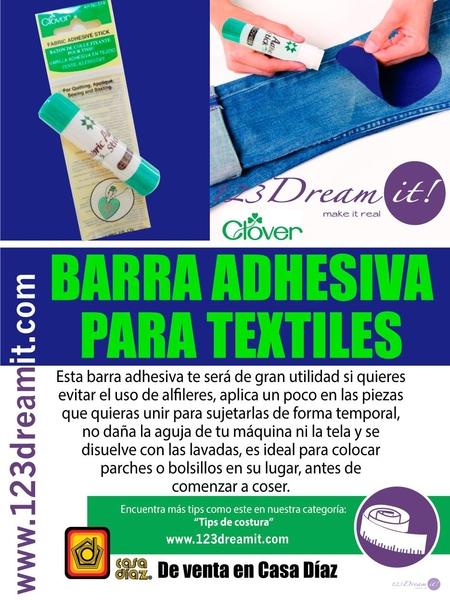 Barra adhesiva para textiles