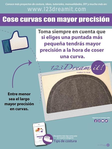 Tip para costuras curvas.