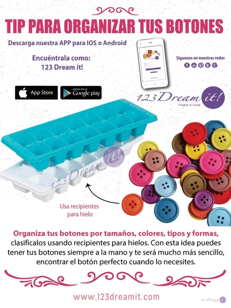 Tip para organizar botones