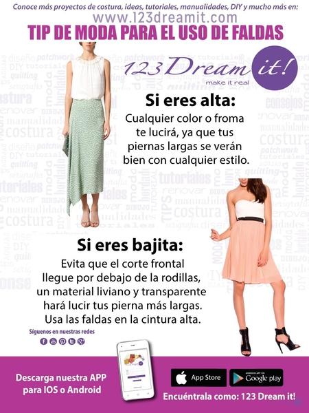 Tips para el uso de falda según tu tipo de cuerpo