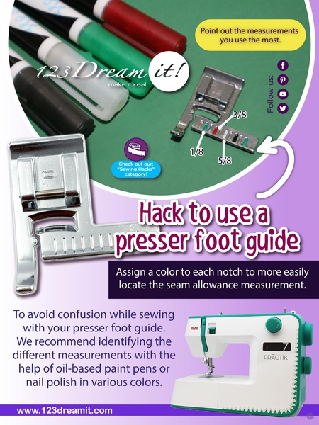 HACK TO USE A PRESSER FOOT GUIDE