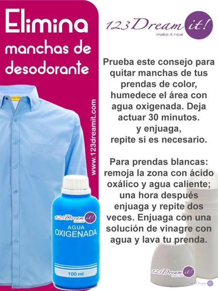 Elimina manchas de desodorante.