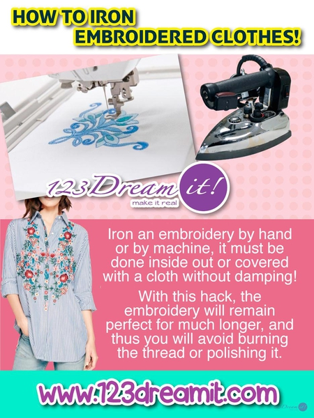 HOW TO IRON EMBROIDERED CLOTHES!