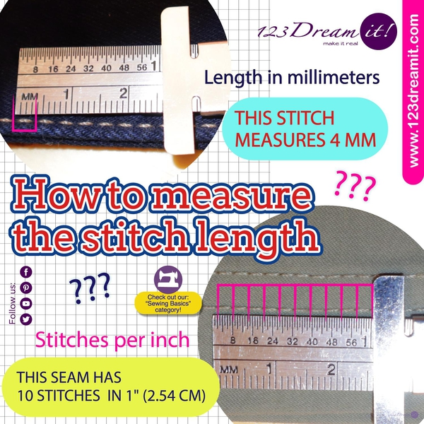 STITCH LENGTH SELECTION ACCORDING TO FABRIC THICKNESS
