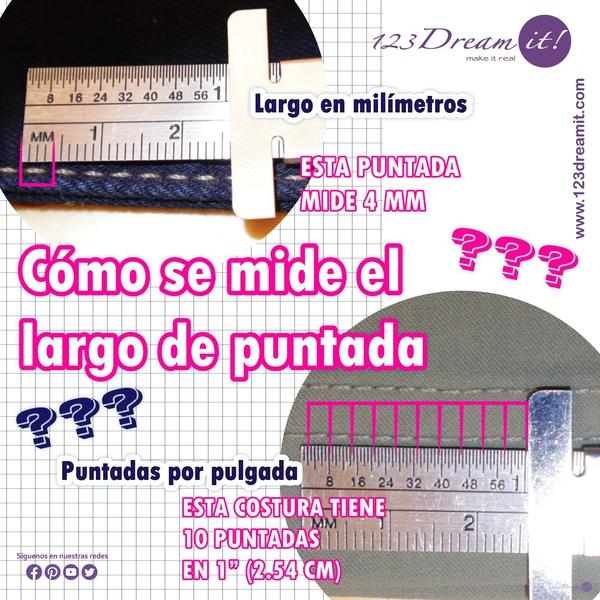 Cómo se mide el largo de puntada