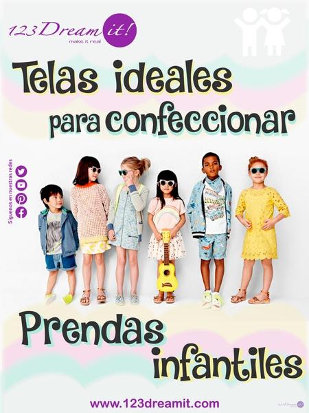 Telas ideales para confeccionar prendas infantiles