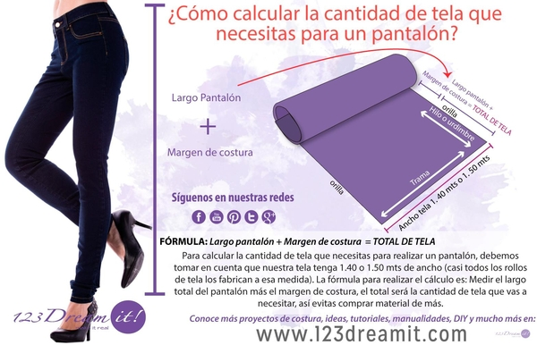 Como calcular la tela para un pantalón