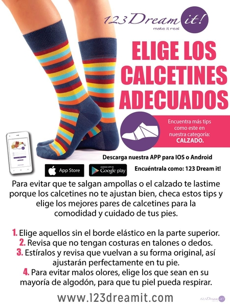 Elige los calcetines adecuados