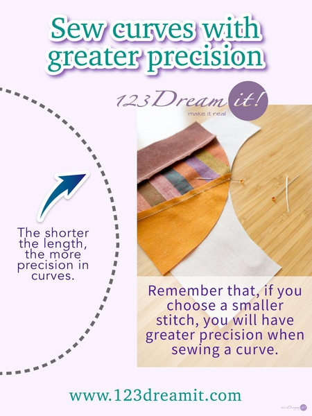 SEW CURVES WITH GREATER PRECISION
