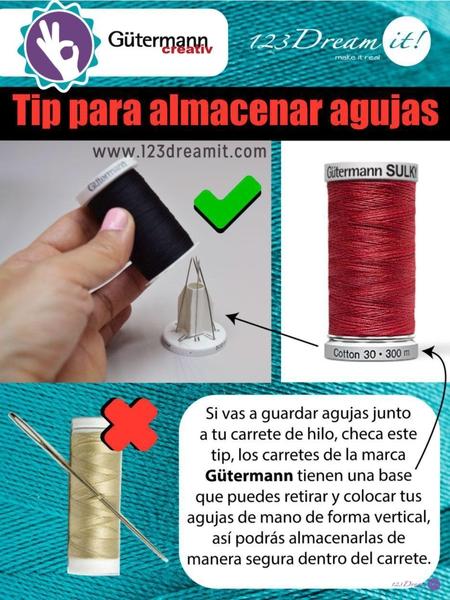Tip para almacenar agujas