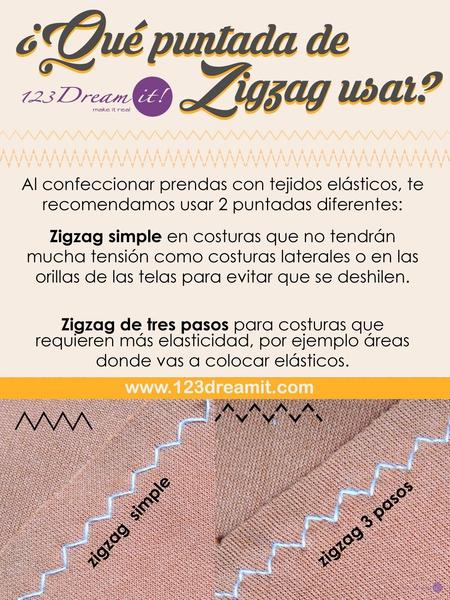 ¿Qué puntada de zigzag usar?