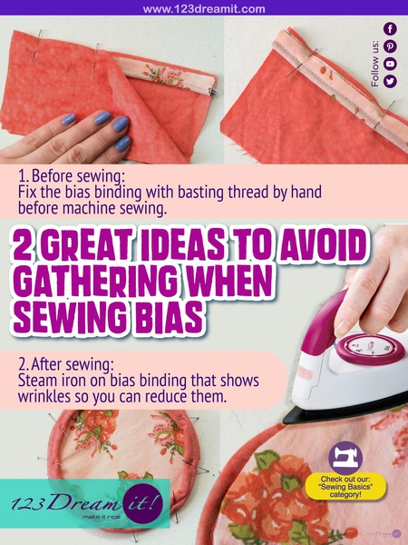 2 GREAT IDEAS TO AVOID GATHERING WHEN SEWING BIAS