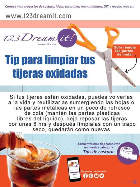 Tip para limpiar tus tijeras oxidadas.