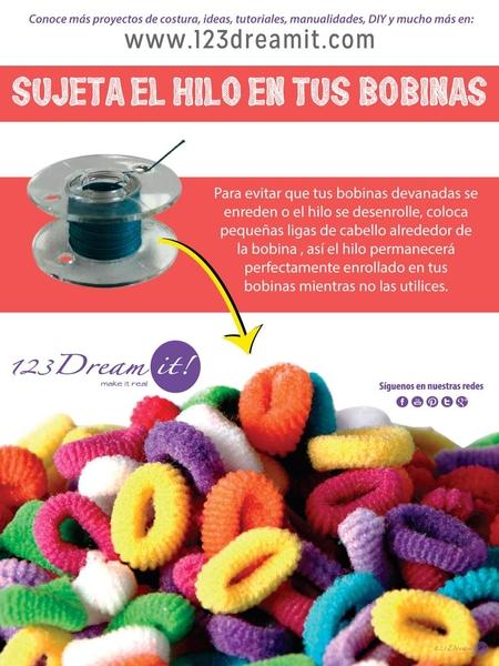 Tip del día: ¡Evita que el hilo se desenrolle de tus bobinas!