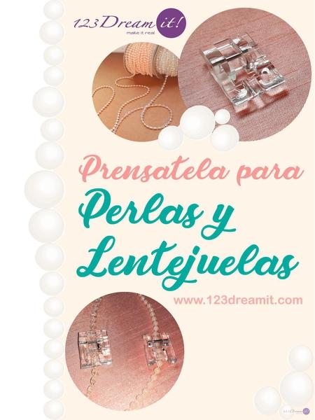 Prensatela para perlas y lentejuelas
