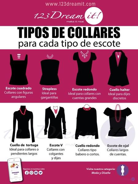 Tipos de collares para cada tipo de escote