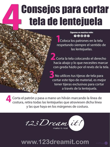 4 Consejos para cortar tela de lentejuela