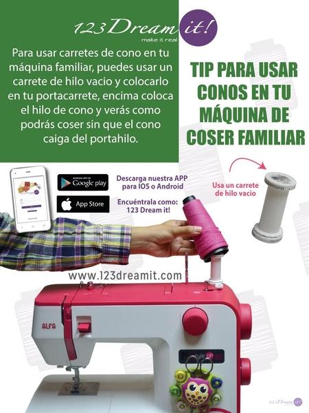Tip para usar conos en tu máquina de coser familiar