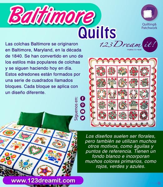 Baltimore Quilts- Técnica de acolchado