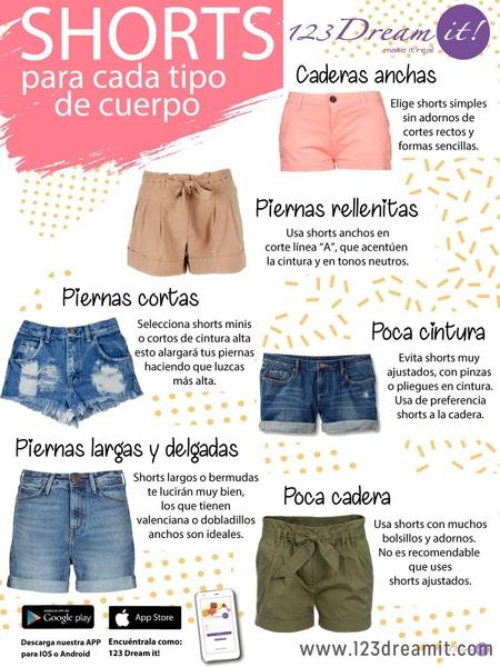 Shorts para cada tipo de cuerpo