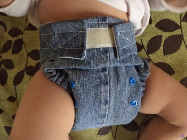 Pañal ecológico de tela reciclando unos jeans