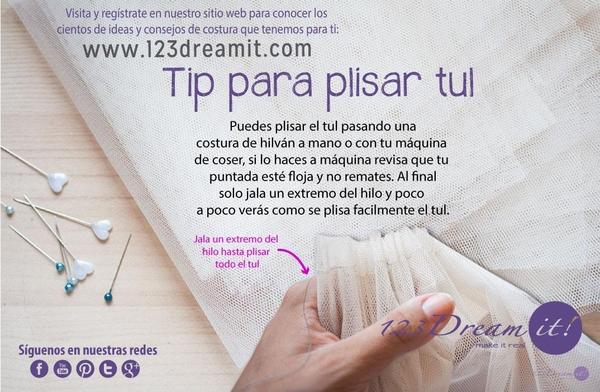 Tip para plisar tul