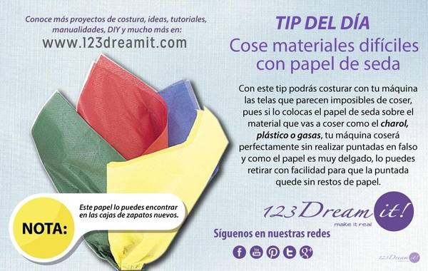 Tip para coser materiales difíciles
