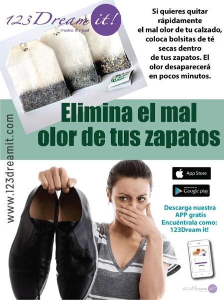 Elimina el mal olor de tu calzado