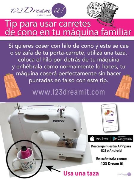 Tip para usar carretes de cono en tu máquina familiar