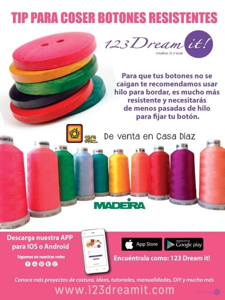 Tip para coser botones resistentes